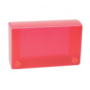 Roaring Spring Index Card Plastic Box, Capacity for 7.6cm x 13cm Index Cards, Includes Dividers, Assorted Colours
