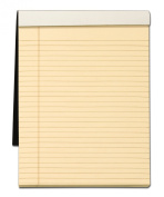 TOPS Docket Gold Writing Tablet with Privacy Cover, 22cm x 30cm , Perforated, Ivory, Legal/Wide Rule, 70 Sheets per Pad