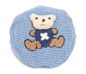 Children Baby Cartoon Lovely Cubs Grid Beret Hat