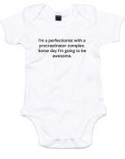 Perfectionist With A Procrastinator Complex, Printed Baby Grow