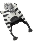 Children Baby Fashion Lovely Christmas Winter Zebra Warm Ear Flaps Hat Knit Hat Hedging Cap Beanies
