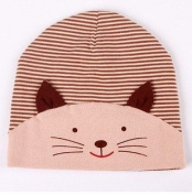 Children Baby Fashion Lovely Autumn-Winter 5 Colour Options Cotton Cat Knit Hat Hedging Beanies