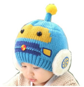 Children Baby Fashion Lovely Christmas Winter Compact Car Ear Flaps Hat Knit Hat Hedging Cap Beanies