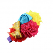Sanwood Kids Baby Girls' Elastic Flower Buds Knot Beads Headband
