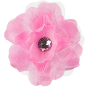 Lisianthus Flower Hair Clip with Lace - Pink W01S71B