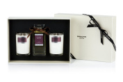 Bahoma Desire Luxurious Gift Box with a 100 ml Bath Oil in a Glass Bottle Plus Two Travel Size Candles