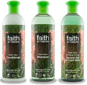 Faith In Nature Aloe Vera Shampoo, Conditioner & Shower Gel Trio