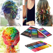 Beauty7 Newly Non-toxic Temporary Hair Chalk Dye Soft Pastels Salon Show Party With Box