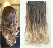 High Quality Dip Dye Ombre One piece Curly Wavy clip in hair extensions