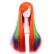 75cm Long Straight Lolita Style Colsplay Wigs For Daily Fashion And Halloween