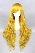 80cm Lolita Style Wave Curly Wigs For Woman Daily Makeup And Halloween Cosplay