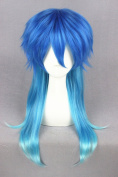 60cm Gradient Blue Colour Long Straight Cosplay Wigs For DRAMAtical Murder DMMD + Wigs Cap