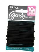 Goody Medium Hair Elastics, 2mm, Black, 29Pcs