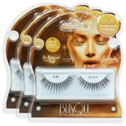 Blinque 100% Human Hair False Eyelashes 3 Pairs, Style #99
