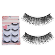 Sanwood 5 Pairs False Eyelashes Long Thick Cross Eye Lashes Extension Beauty