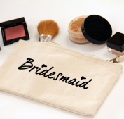Bridesmaid Zipper Canvas Make-up Bag, Wedding Favour