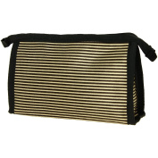 City Make-Up Bag Stripy Gold