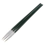 Sanwood 3Pcs Painting Drawing Dotting DIY Acrylic Tips Nail Art Brush Set