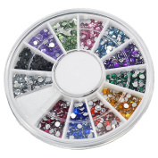 Neverland 3D Be Mixed Nail Art Tips Glitters Rhinestones Slice Decoration gems Crystal Wheel #SC