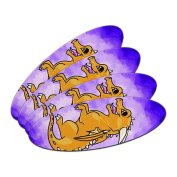 Baby Dragon Chibi on Purple - Cute Oval Nail File Emery Board 4 Pack