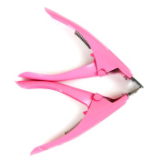 Fashion Gallery 2Pc Acrylic False Nail Tips Cutter Clipper Colour Pink