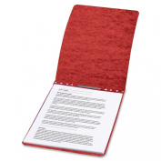 ACCO PRESSTEX Report Cover, Top Bound, Tyvek Reinforced Hinge, 7cm Centres, 5.1cm Capacity, Letter Size, Red