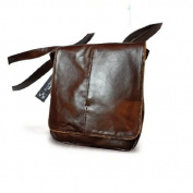 SHOULDER BAG GENUINE LEATHER MEN'S DOOR IPAD/TABLET WITH STRAP, MOD