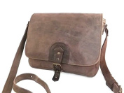 MAN SHOULDER BAG PURSE GENUINE LEATHER DARK BROWN MOD