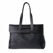 Women's leather tote bag large size with double handles DUDU Black