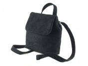 LONI Amazing Little Fashion Backpack in Faux Suede in Black