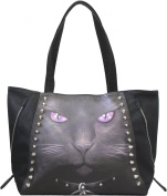 Spiral - Women - BLACK CAT - Tote Bag - PU Leather - 37x33x14cm