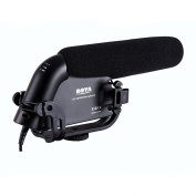 BOYA BY-VM190 Stereo Video Shotgun Microphone with Windshield for Canon Nikon Camera Camcorder w/ Andoer Lens Cleaing Pen
