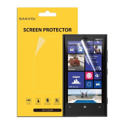 3 x Ganvol Ultra HD Clear Front Screen Protector for Nokia Lumia 920 [Ultra HD Clear] [Scratch Resistant] [Bubble Free]