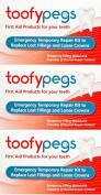 Toofypegs Emergency Repair For Fillings And Crowns x 6 Packs