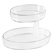 InterDesign Medium 2-Tier Clarity Vanity Tray, Clear
