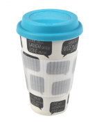 """Cambridge """"Positive Thoughts"""" Thermal Insulated Bamboo Travel Mug"""