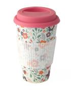 "Cambridge ""Poppy Flower"" Thermal Insulated Bamboo Travel Mug"