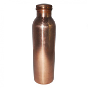 Pure Copper Water Bottle Jointless Leak Proof Thermos with Lid for Ayurvedic Health Benefits