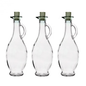 6 empty glass bottle carafe 250ml or 500ml with closure of SLK GmbH