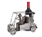 BRUBAKER Wine Bottle Holder Golfer in Golf Cart Metal Sculpture Gift