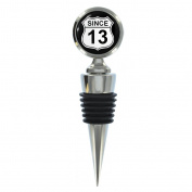 Since 13 Birth Year US Road Sign Route 66 Wine Bottle Stopper