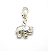 Genuine Silver 925 small elephant clip on charm ideal for Thomas Sabo bracelet or necklace