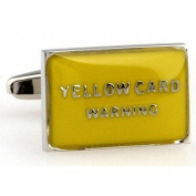 Yellow Card Novelty Gift Boxed Wedding Cufflinks Cuff Links For Groom Perfect Gift