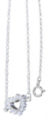 Hobra-Gold-PLATED 925 SILVER CHAIN WITH HEART PENDANT WITH FINE CHAIN NECKLACE SILVER CUBIC ZIRCONIA HEART SILVER