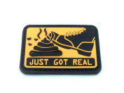 Just Got Real Orange PVC Airsoft hook and loop Patch