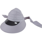 Foldable Large Brimmed UV Sun Protection Hat Cycling Sun Hat, Grey