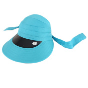 Foldable Large Brimmed UV Sun Protection Hat Cycling Sun Hat, Sky Blue