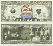 Novelty Dollar Led Zeppelin Stairway To Heaven Million Dollar Bills x 4 English Rock Band