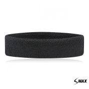 SMax Sportline Head Band,Terry Cloth Headband,Gym Workout Yoga Exercise & Fitness