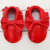 Baby Moccasins Bow Shoes CreazyDog® Newborn Firstwalker Anti-slip Leather Infant Shoes